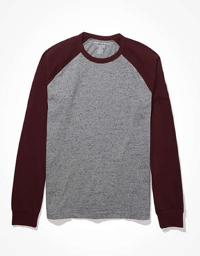 AE Color-Block Long-Sleeve T-Shirt