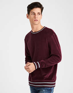 Ae Velour Pullover Sweatshirt by American Eagle Outfitters