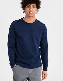 Ae Long Sleeve Football Tee by American Eagle Outfitters