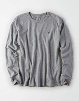 AE Long Sleeve Logo Crew Neck Shirt