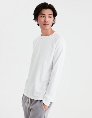 Ae Long Sleeve Crew Neck Raglan Tee by American Eagle Outfitters