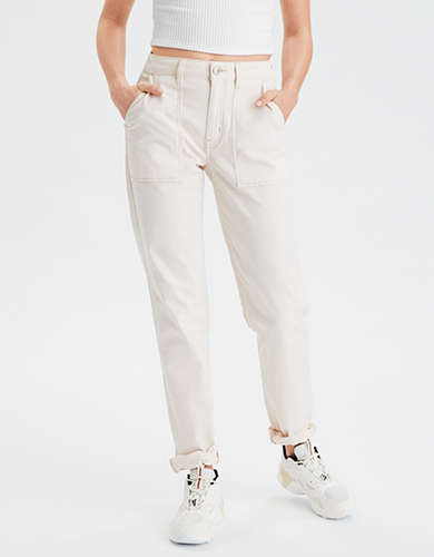 AE High-Waisted Utility Straight Leg Pant