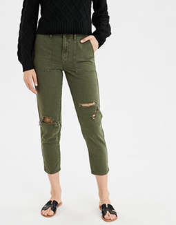 High-Waisted Utility Crop Pant