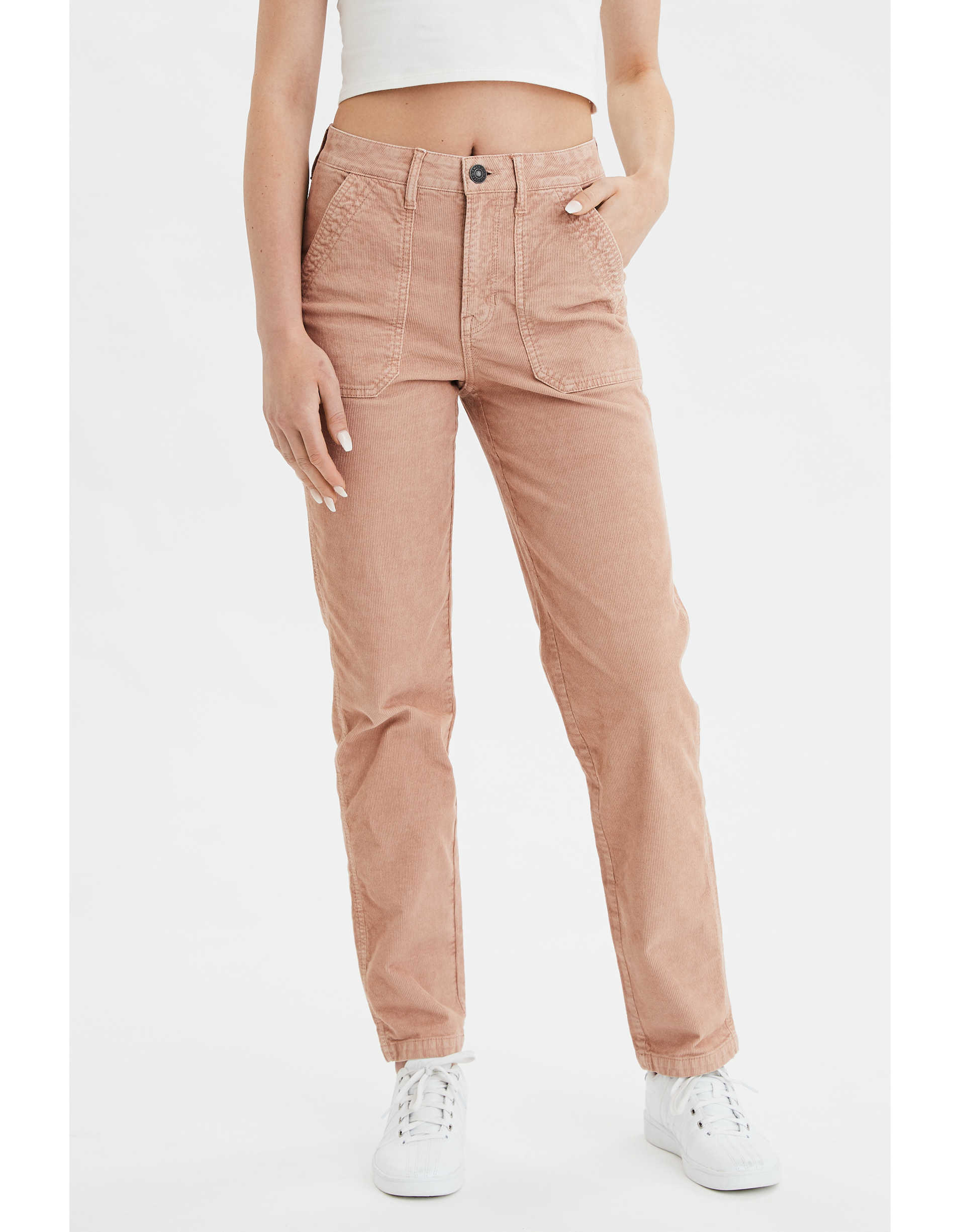 High-Waisted Corduroy Utility Pant
