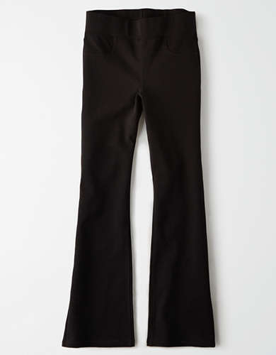 High-Waisted Pull-On Crop Flare Pant