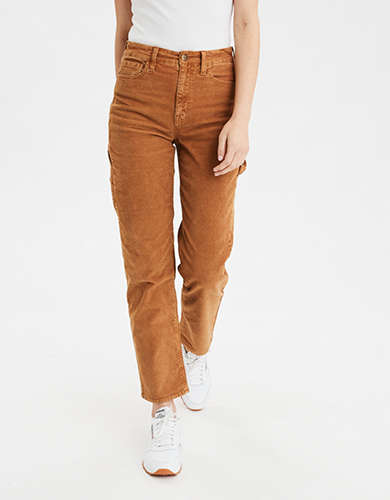 High-Waisted Corduroy Carpenter Pant