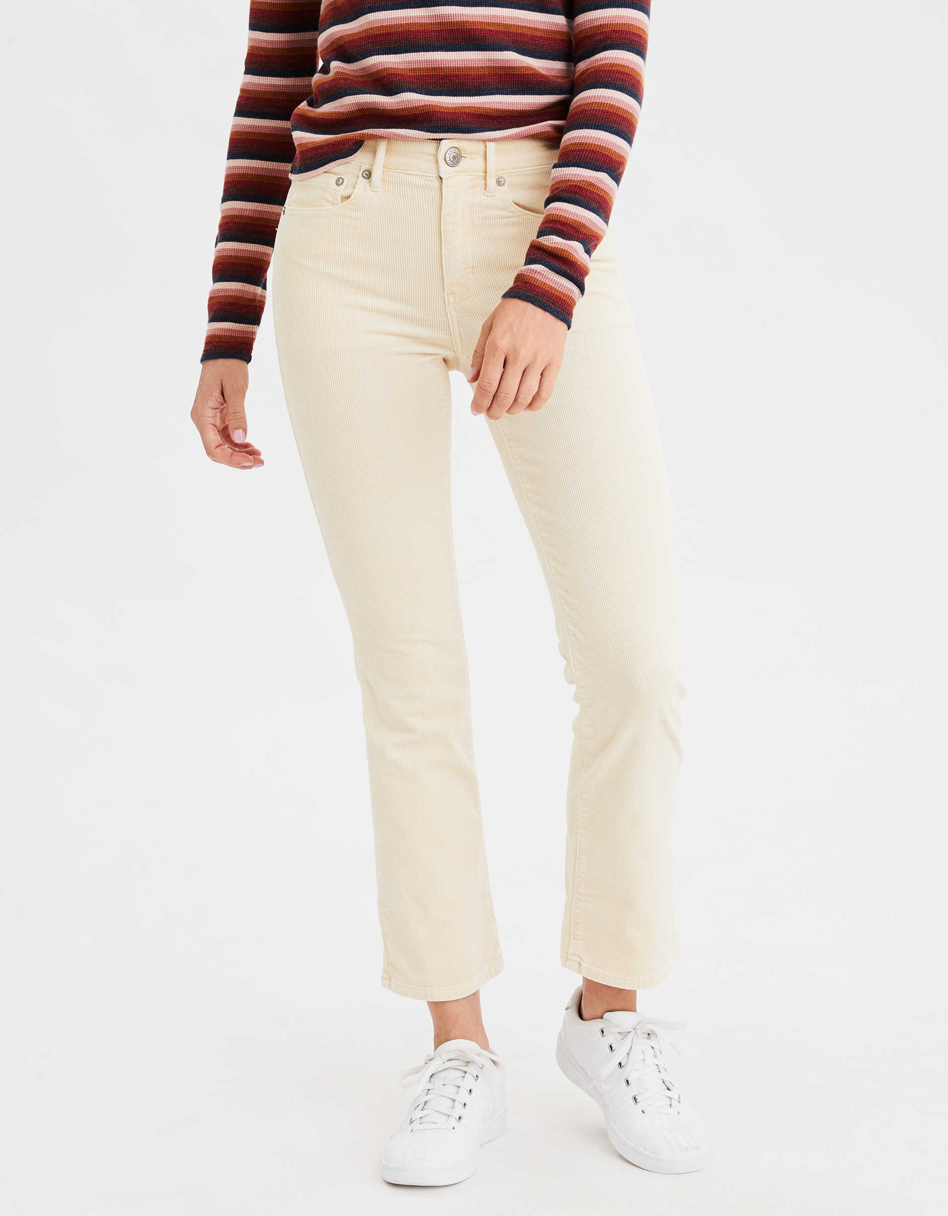 AE High-Waisted Corduroy Crop Flare Pant
