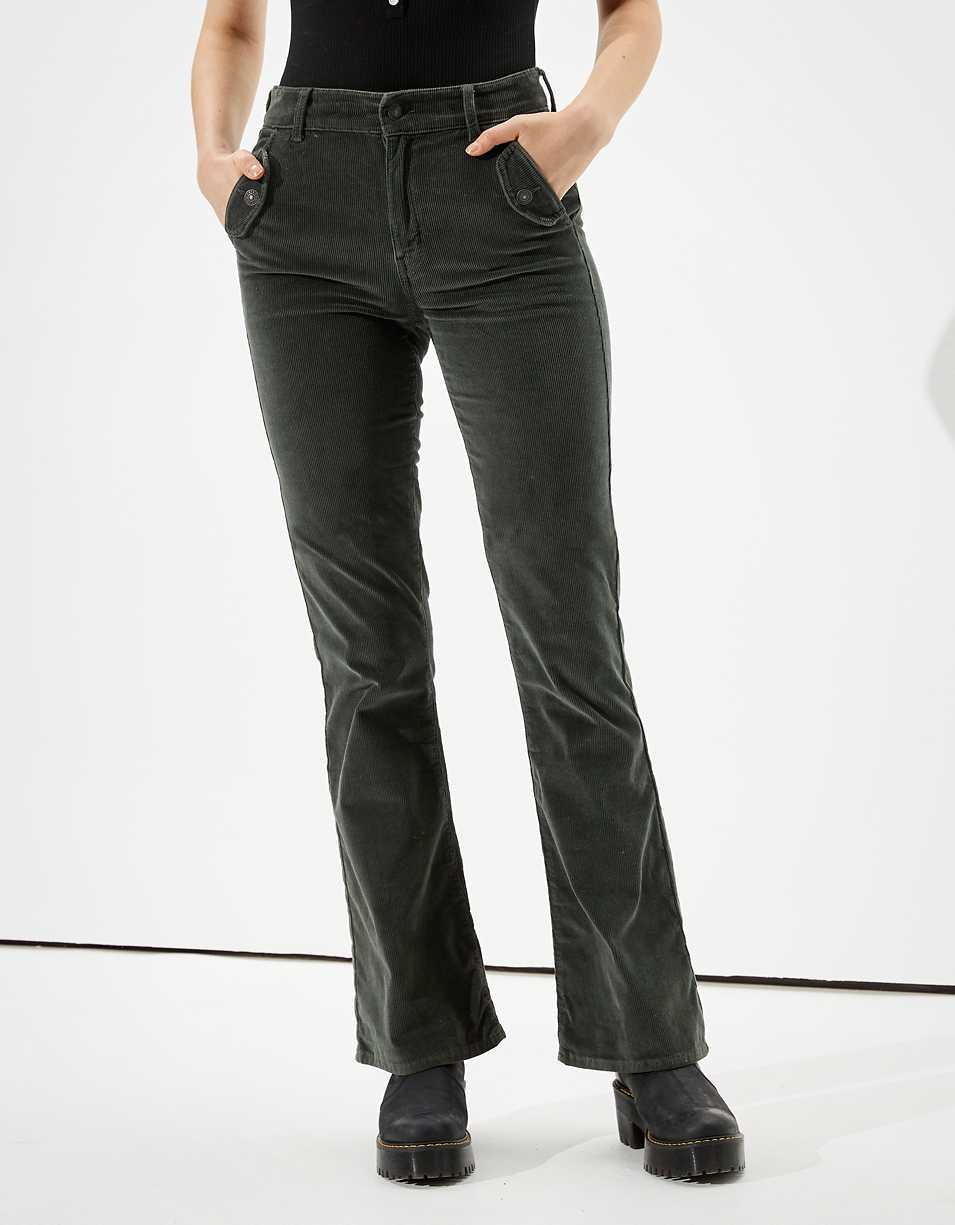 AE Super High-Waisted Corduroy Flare Pant