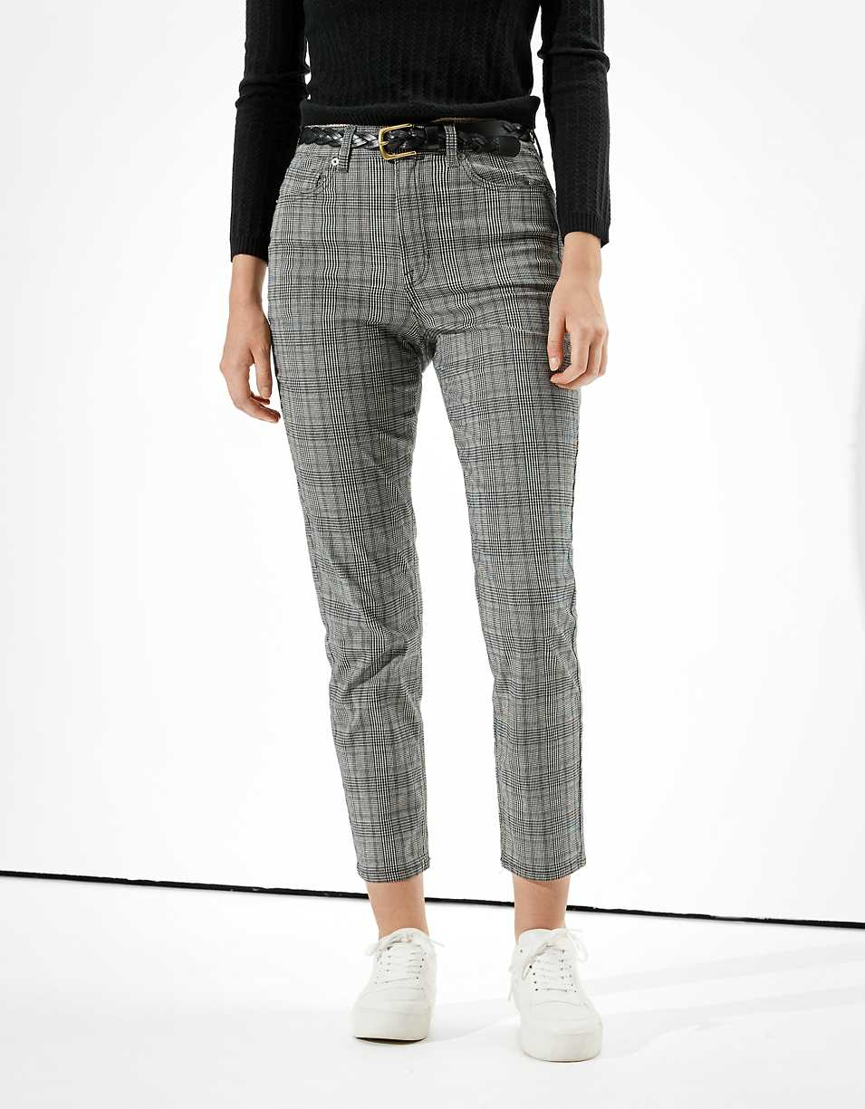 AE Plaid Mom Pant