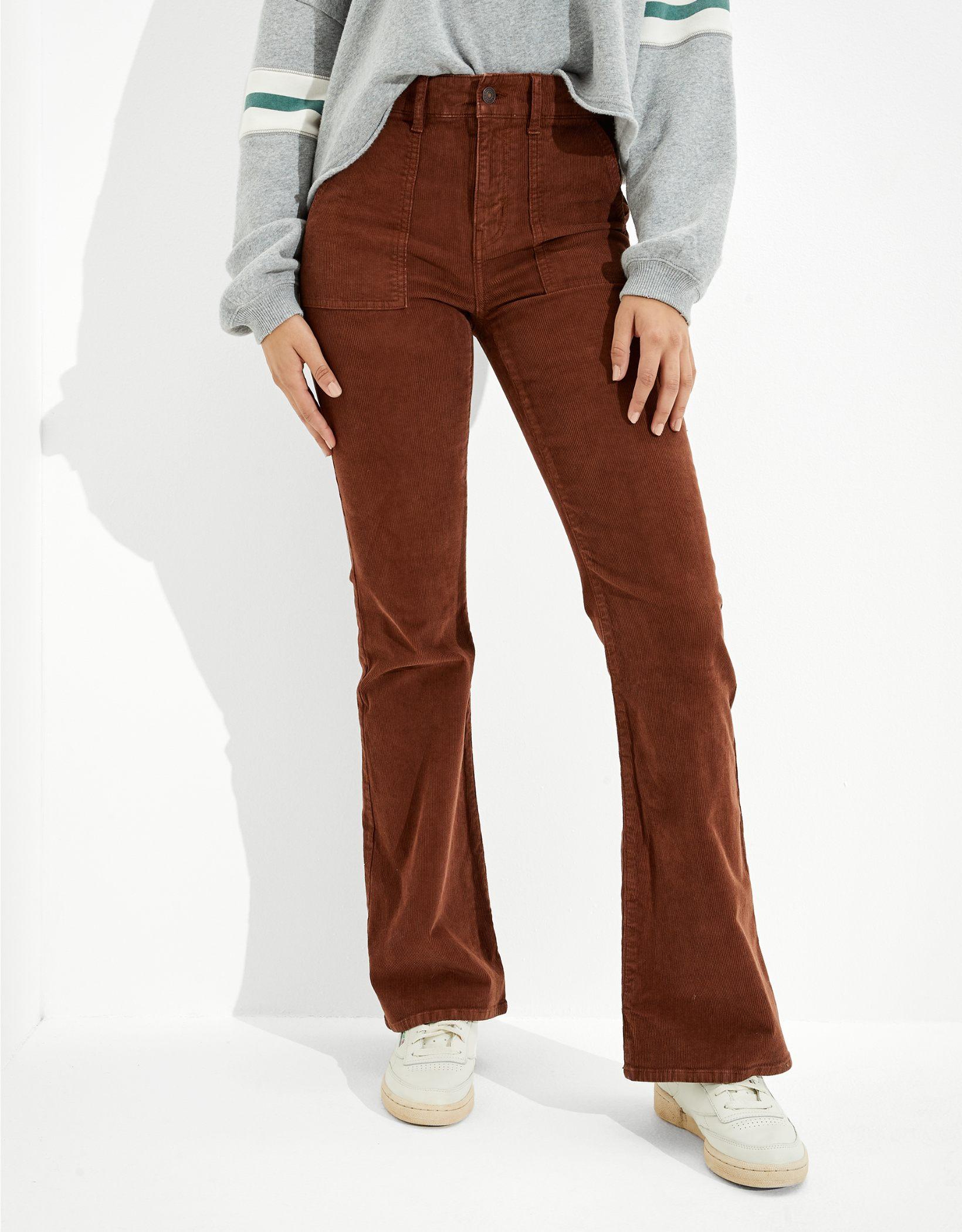 AE Corduroy Super High-Waisted Flare Pant