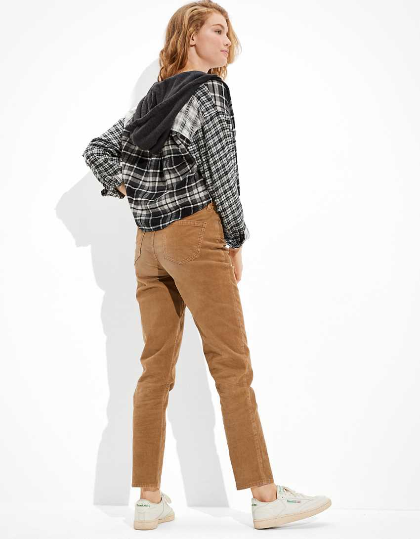 AE Stretch Corduroy Mom Straight Pant