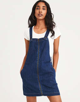 7bae139699c1 Shoptagr | Ae Zip Front Overall Skirt by American Eagle Outfitters