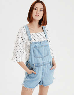 Ae High Waisted Tomgirl Short Overall by American Eagle Outfitters