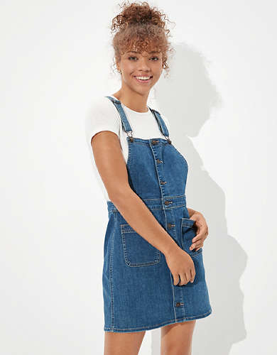 AE Denim Dress Overall
