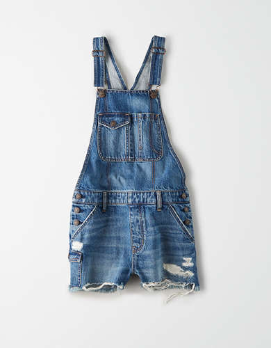 AE Denim Tomgirl Short Overall