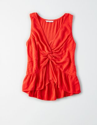 Ae Knot Front Shell Top by American Eagle Outfitters
