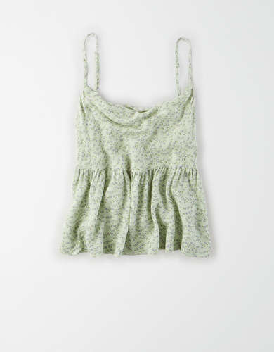 AE Cowl Neck Babydoll Top