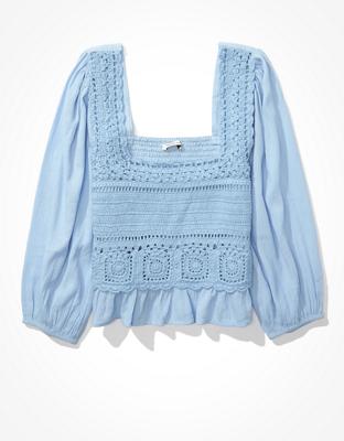 Вязаная блуза со сборками AE