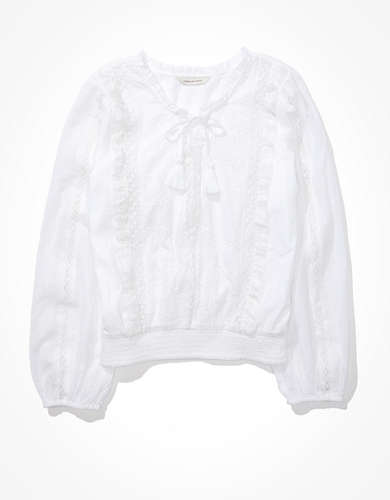 AE Lace-Up Blouse