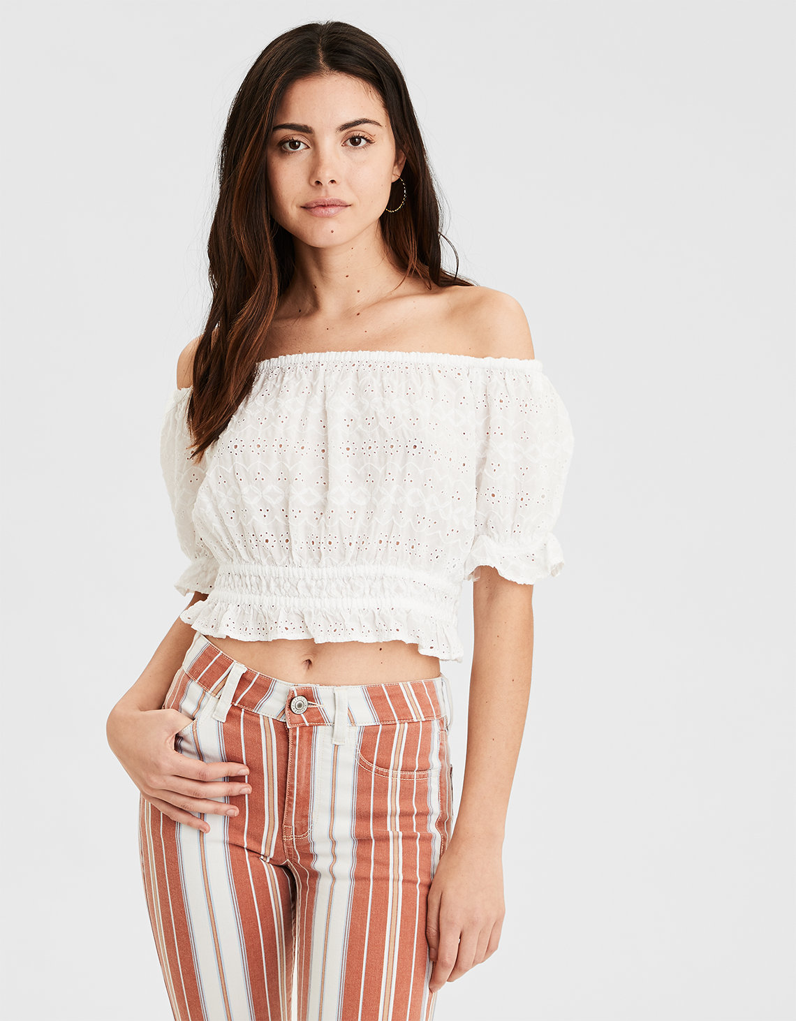 df5b6f26ced AE Off-The-Shoulder Top