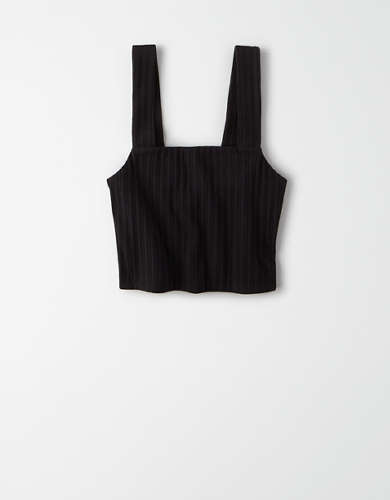 AE Ribbed Wide Strap Crop Top