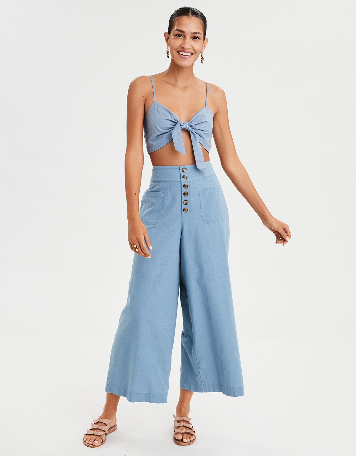 c9f6052709 AE Knot Front Bralette Top