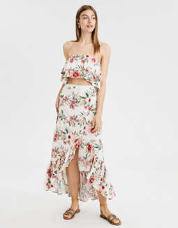 AE Ruffled Hawaiian Tube Top