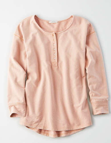 AE Long Sleeve Henley Top