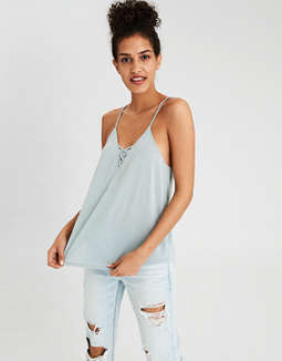 Ae Soft & Sexy Lace Up Swing Tank Top by American Eagle Outfitters