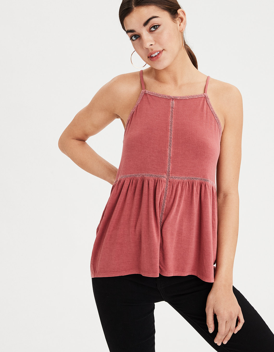 59f0b4da4a24b AE Soft   Sexy Lace Trim Top. Placeholder image. Product Image