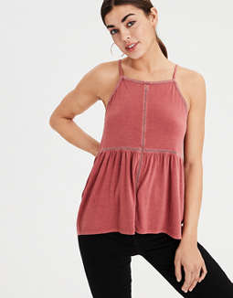 Ae Soft &Amp; Sexy Lace Trim Top by American Eagle Outfitters