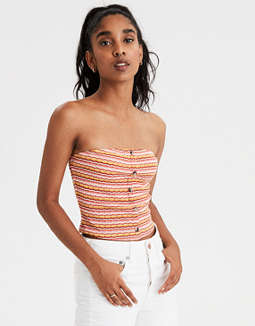AE Button Front Tube Top