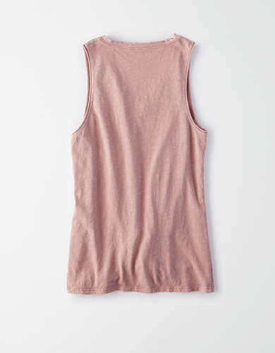 AE Tie Front Tank Top
