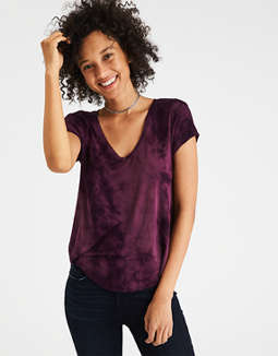 Ae Soft & Sexy V Neck T Shirt by American Eagle Outfitters