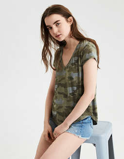 Ae Soft & Sexy Camo Tee by American Eagle Outfitters