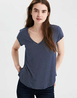 Ae Soft &Amp; Sexy Striped Tee by American Eagle Outfitters