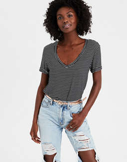 AE Soft & Sexy Striped Favorite T-Shirt