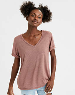AE  Plush V-Neck T-Shirt