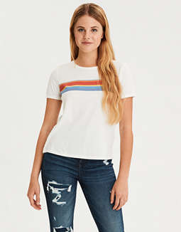 AE Chest Stripe Crew Neck T-Shirt