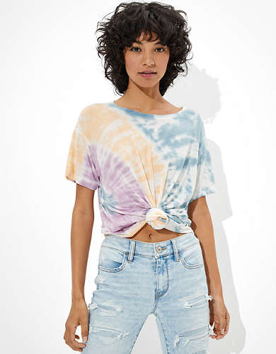 AE Oversized Soft & Sexy Tie-Dye Crew Neck T-Shirt