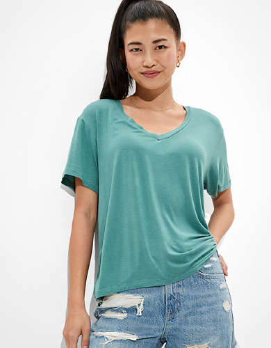 AE Oversized Soft & Sexy V-Neck T-Shirt