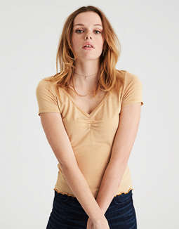 Ae Soft & Sexy Cinch Front T Shirt by American Eagle Outfitters