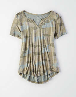 Ae Soft & Sexy Notch Neck Top by American Eagle Outfitters