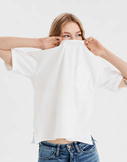 AE Oversized Crew Neck Pocket T-Shirt