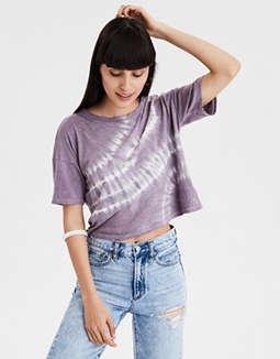 16110ca4 placeholder image AE Tie Dye Boxy Crop T-shirt ...