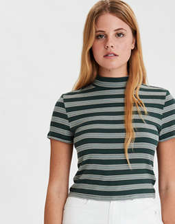 AE Striped Mock Neck Baby T-Shirt