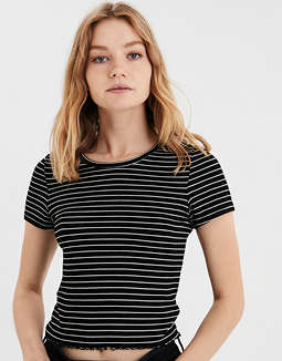 AE Striped Ribbed Baby T-Shirt