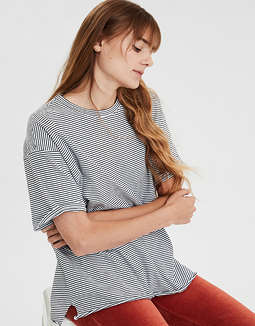 AE Striped Oversized Boy T-shirt