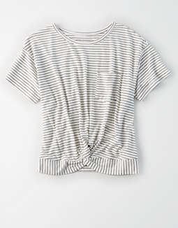 AE Striped Twist Front T-Shirt