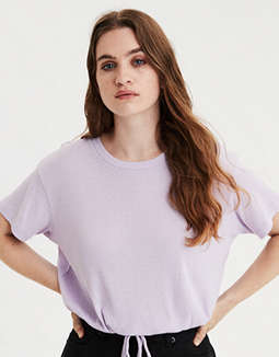 AE Cinched Hem Cropped T-Shirt